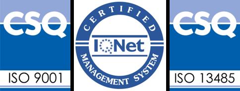 Certificazioni ISO 9001 ISO 13485