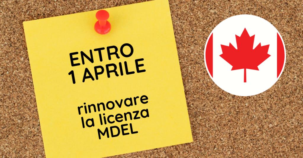 Canada rinnovo MDEL entro 1° aprile e aggiornate commissioni dispositivi medici